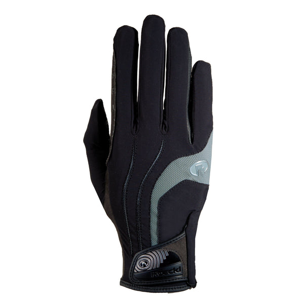 Roeckl Malia Gloves Black and Grey 3301-265-008