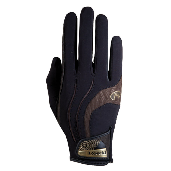 Roeckl Malia Gloves Black and Mocha 3301-265-079