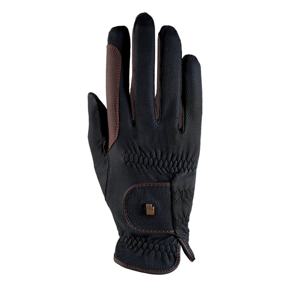 Roeckl Malta Gloves Black and Mocha 3301-335-079