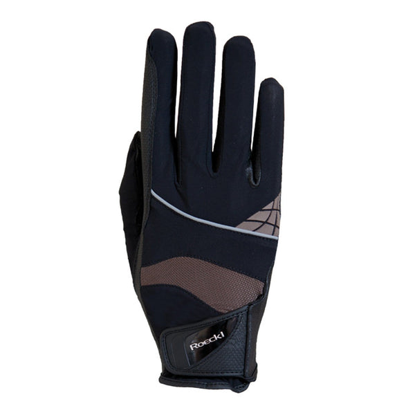 Roeckl Montreal Gloves Black and Mocha 3301-273