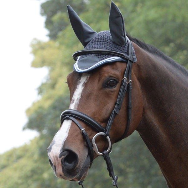 Saxon Coordinate Ear Cover Grey on Horse 811813