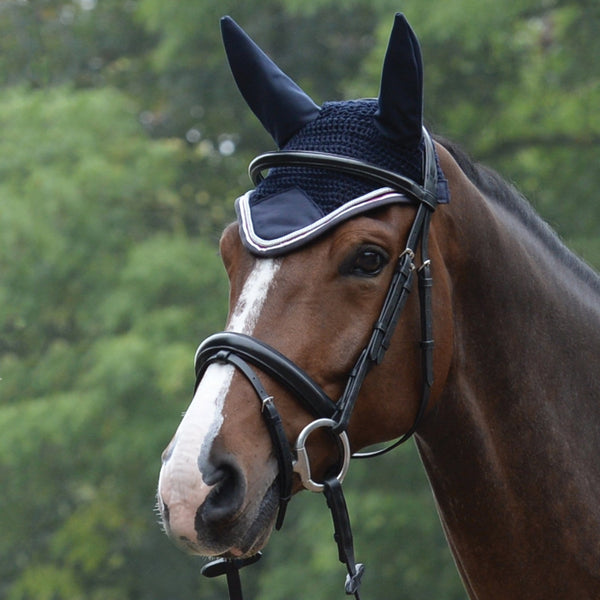Saxon Coordinate Ear Cover Navy on Horse 811816
