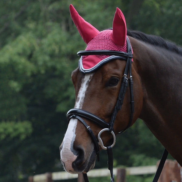 Saxon Coordinate Ear Cover Pink on Horse 811819