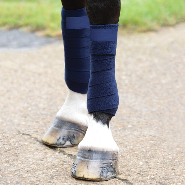 Saxon Coordinate Fleece Bandages Navy on Horse 811796