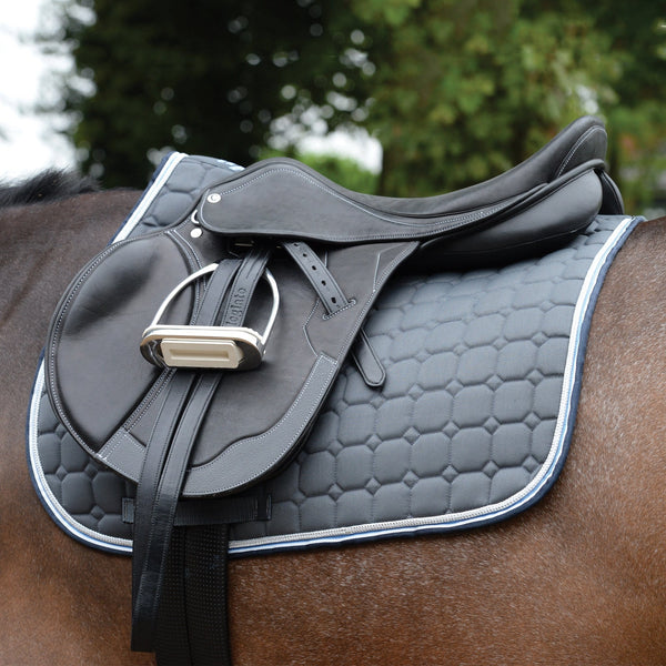 Saxon Coordinate Quilted All Purpose Saddle Pad Grey Under Saddle 811801