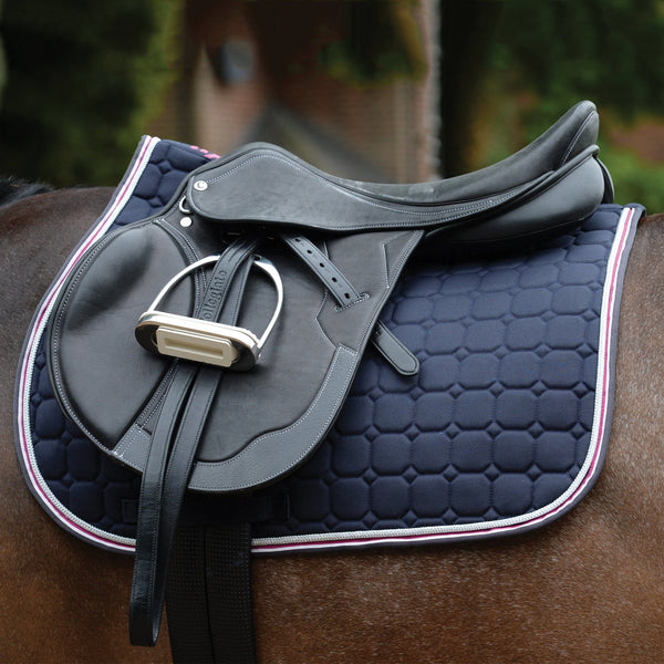 Saxon Coordinate Quilted All Purpose Saddle Pad Navy Under Saddle 811804