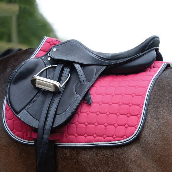 Saxon Coordinate Quilted All Purpose Saddle Pad Pink Under Saddle 811807