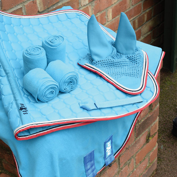 Saxon Coordinate Quilted All Purpose Saddle Pad Blue Matching Set 811798