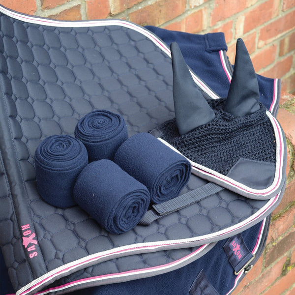 Saxon Coordinate Quilted All Purpose Saddle Pad Navy Matching Set 811804