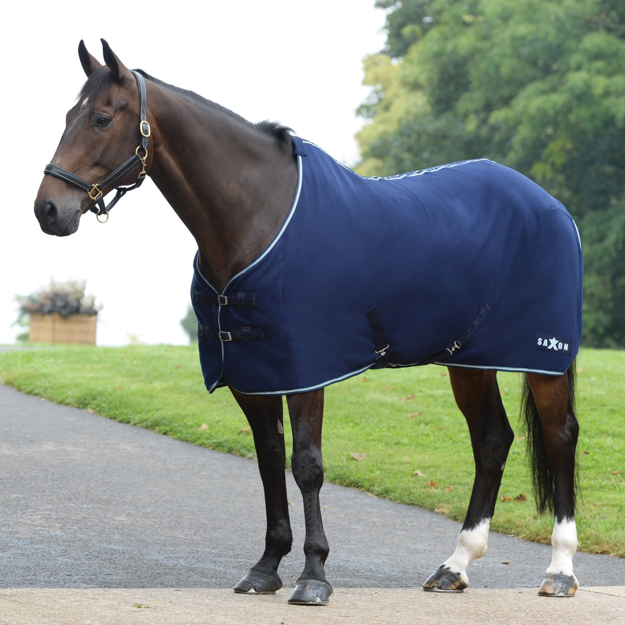 Saxon Element Polar Fleece Rug Navy and Blue 811894