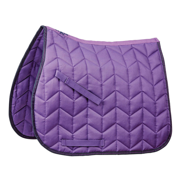 axon Element Quilted All Purpose Saddle Pad Purple and Navy 811828