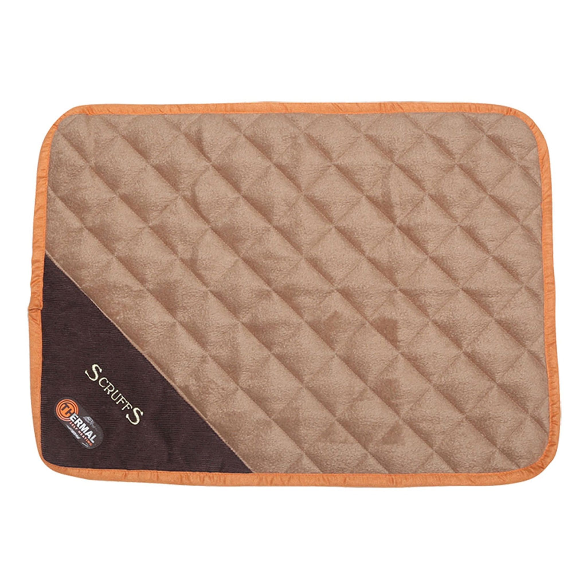 Scruffs Thermal Dog Mat 11680 Brown and Tan X-Small