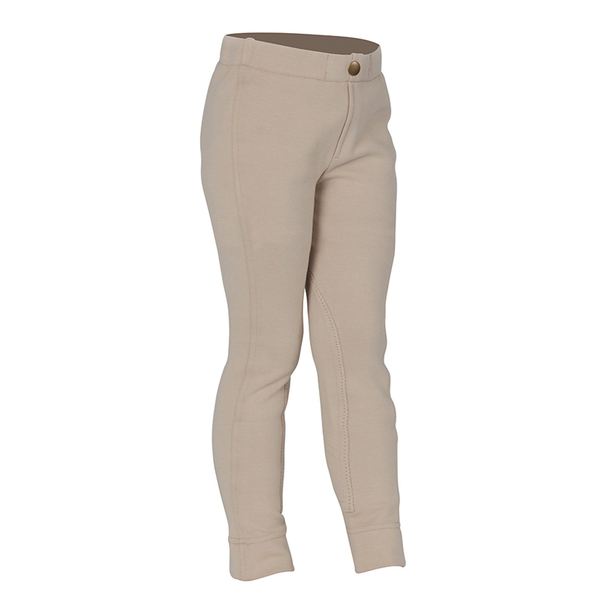 Shires Children's Wessex Pull-On Knee Patch Jodhpurs Beige 8705J.