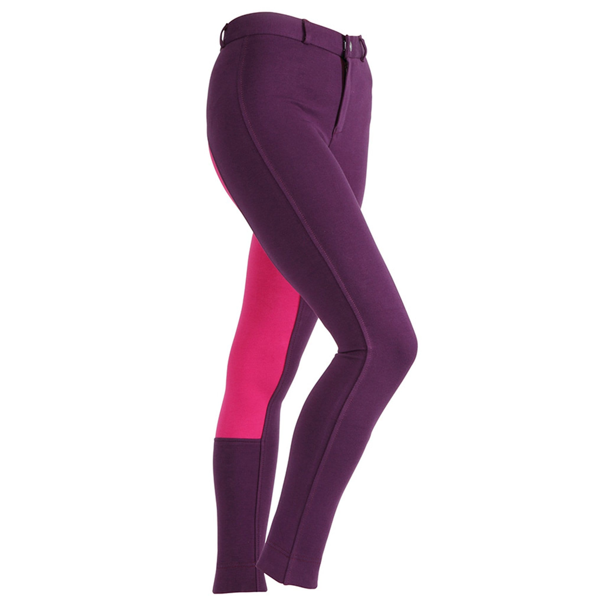 Shires Girls Wessex Two Tone Full Seat Jodhpurs Purple/Pink 8788.