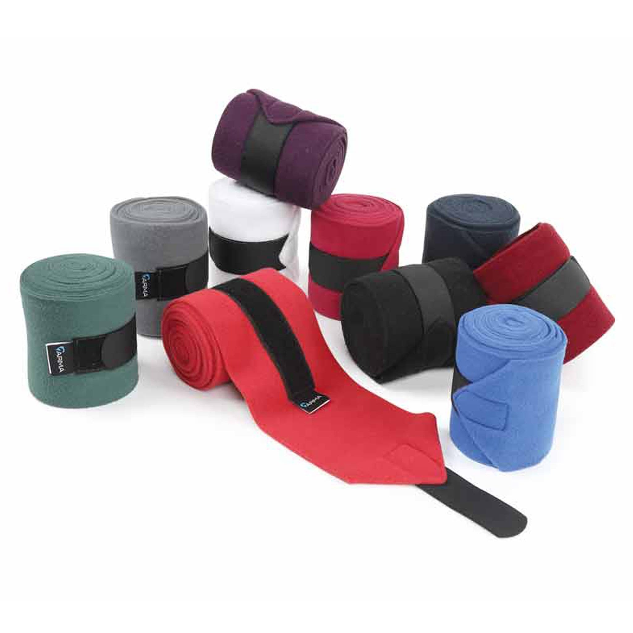 Shires Fleece Bandages 155 All Colours - Black, Navy, Red, Pink, Purple, Green, Grey, Royal Blue, Burgundy, White
