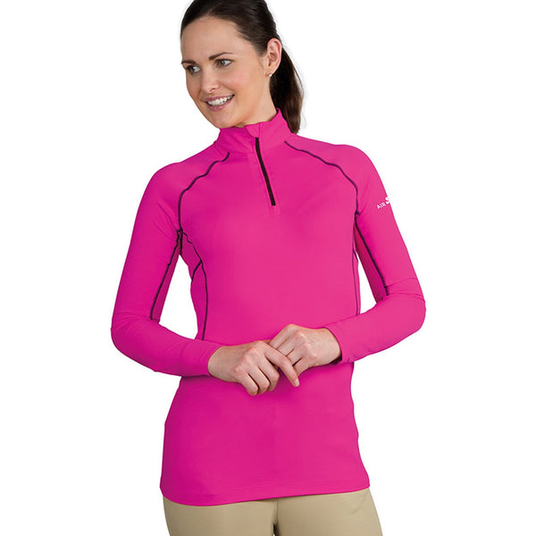 Shires Air Dri Cross Country Shirt Pink on model 9978