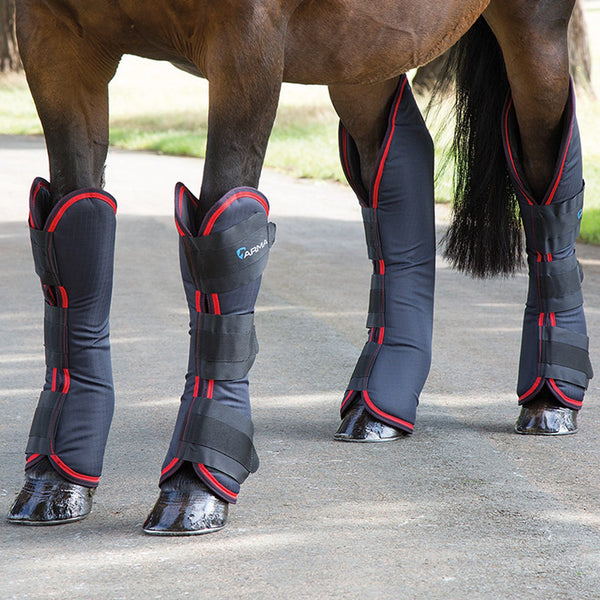 Shires Arma Travel Boots in Black and Red 1834
