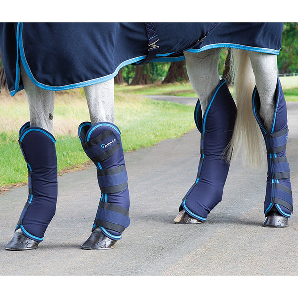 Shires Arma Travel Boots in Navy and Bright Blue 1834