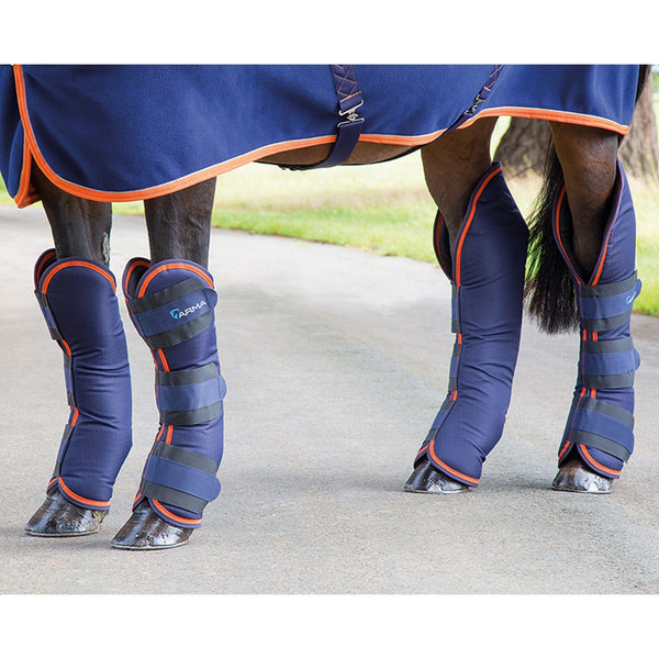Shires Arma Travel Boots in Navy and Orange 1834