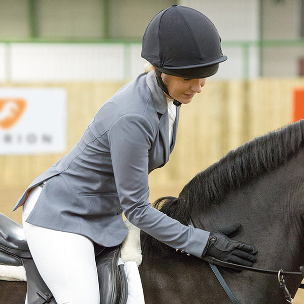 Shires Aubrion Calder Show Jacket Grey Lifestyle Side 9133