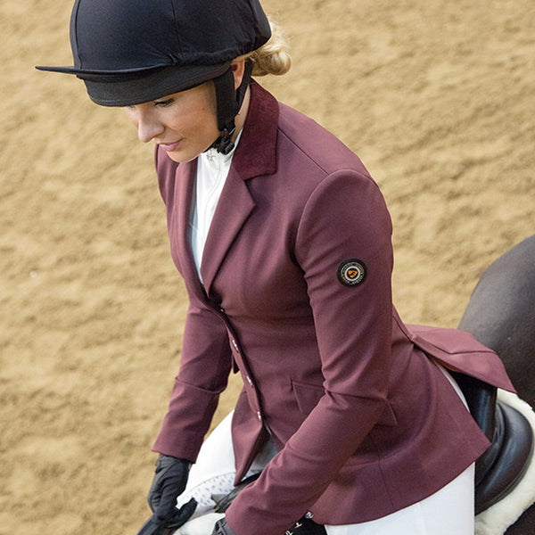 Shires Aubrion Monticello Show Jacket Plum Lifestyle 9137