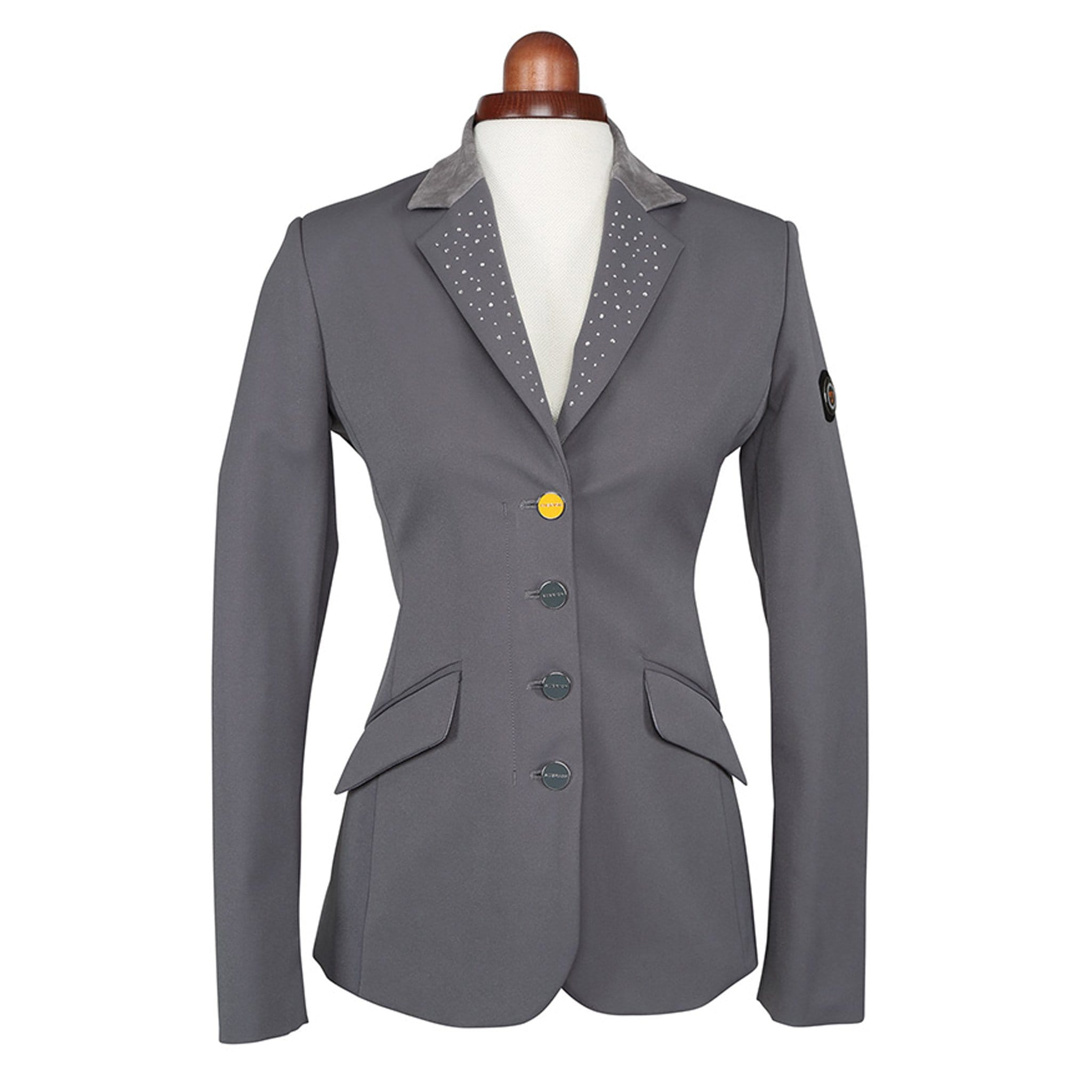 Shires Aubrion Oaklawn Show Jacket Grey Studio 9135
