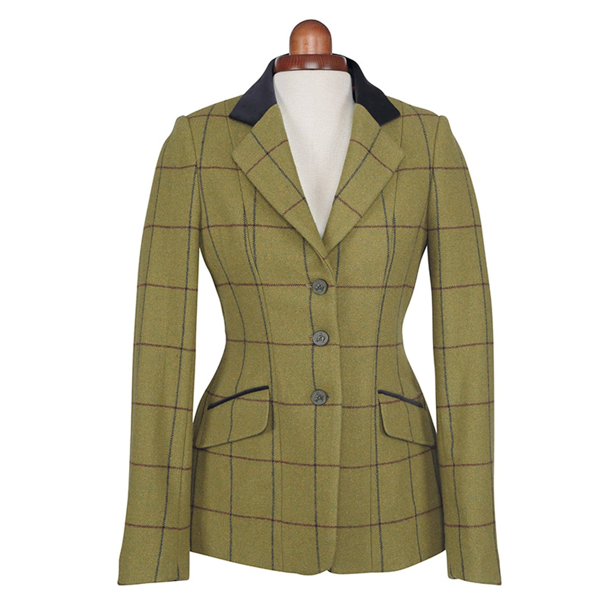 Shires Aubrion Saratoga Jacket Navy and Maroon Check Studio 9785