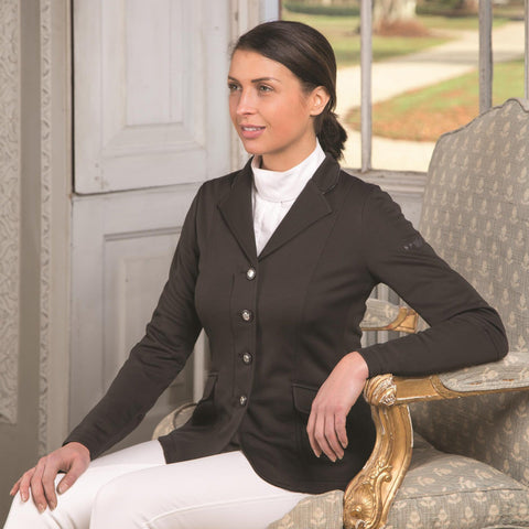 Shires Greenwich Ladies Jacket Black Lifestyle 9782
