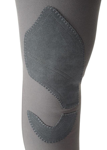 Shires Ladies Performance Bloomsbury Breeches Grey Knee Patch 8822