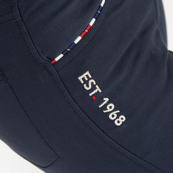 Shires Ladies Performance Team Breeches Navy Close Up 9859