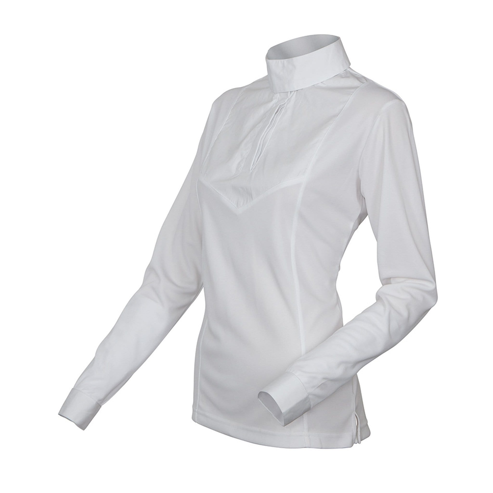 Shires Stock Long Sleeve Show Shirt White Studio 9996
