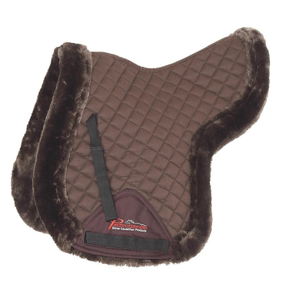 Shires Performance Supafleece Edged Numnah Brown 5237
