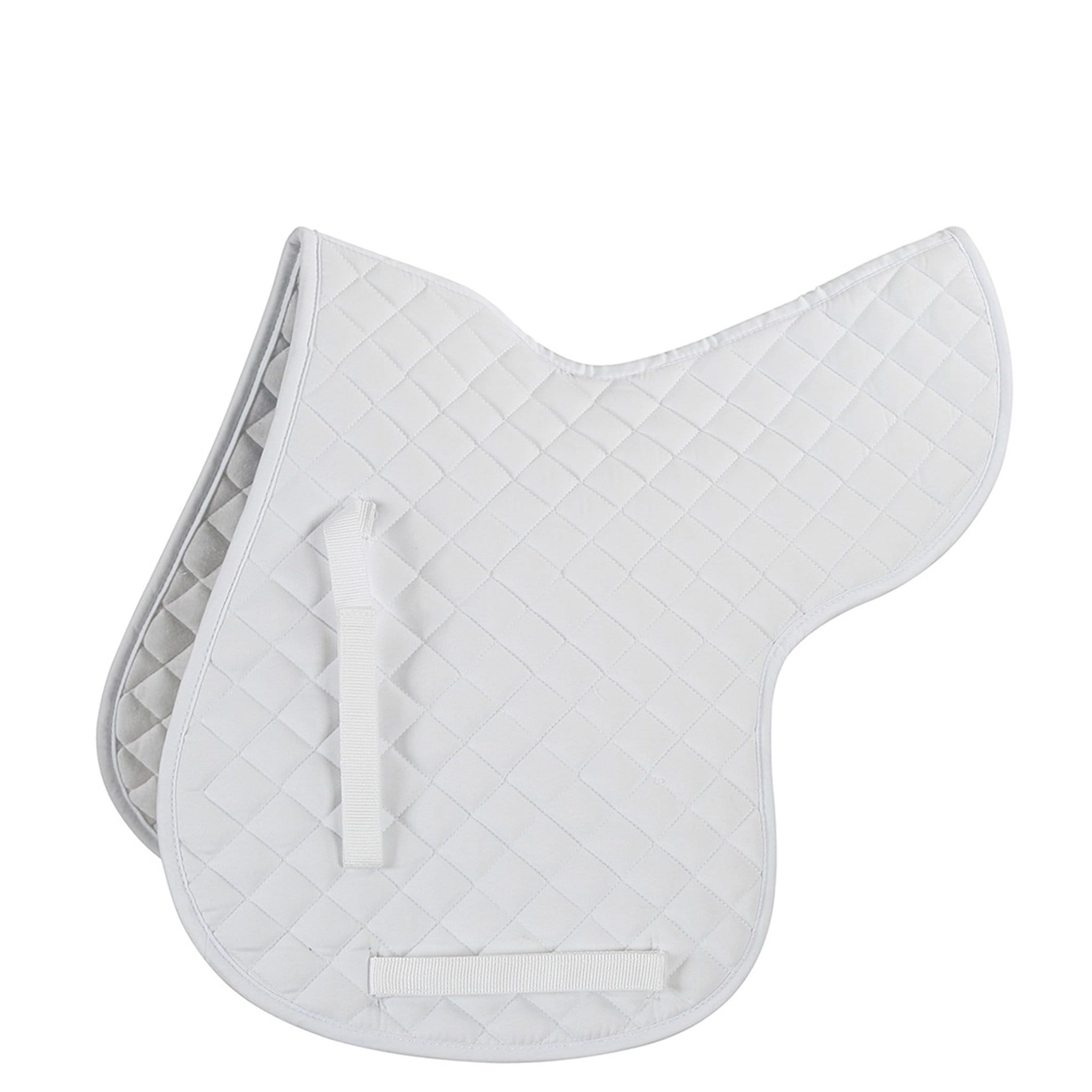 Shires Quilted Numnah White 258
