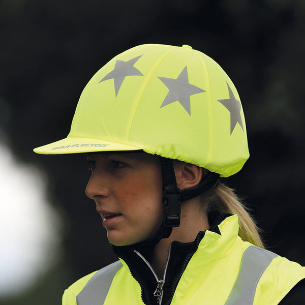 Shires Equi-Flector Hat Cover Yellow 852