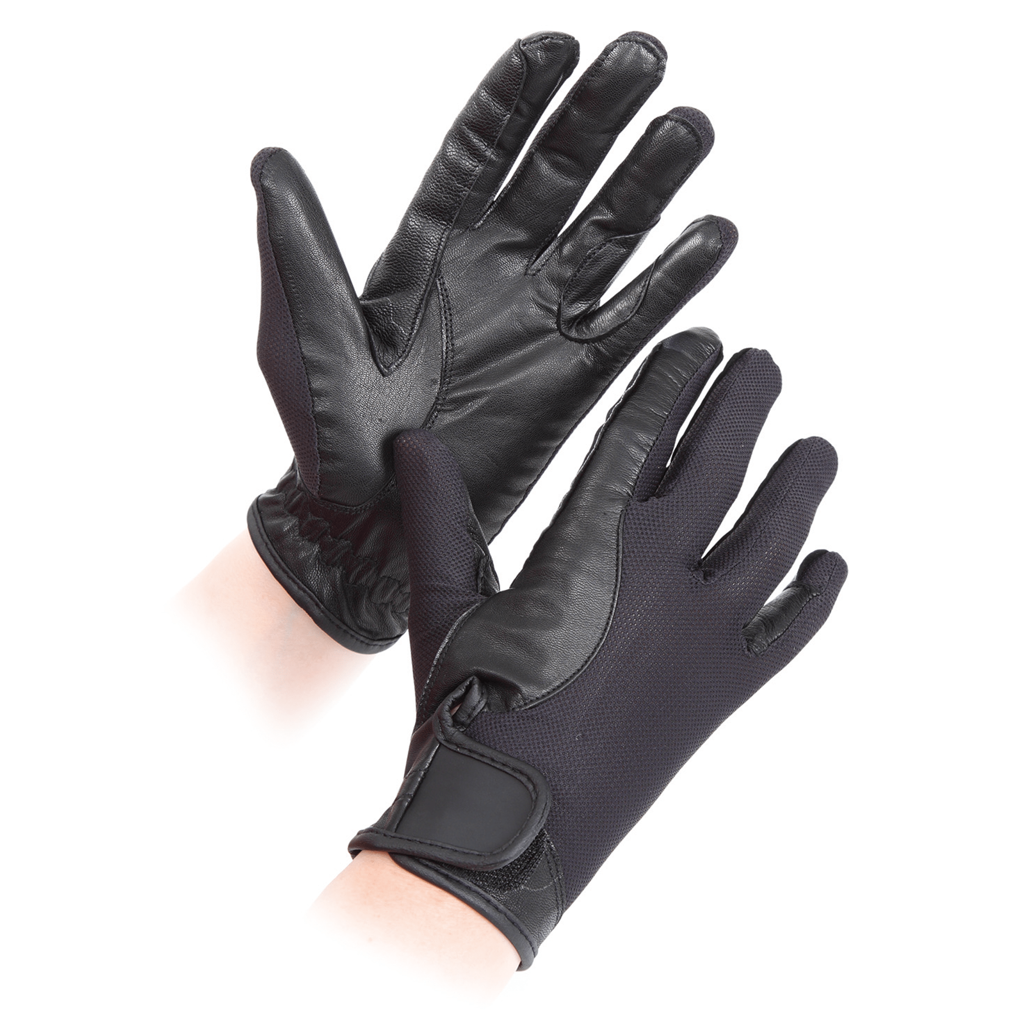 Shires Children's Super Cool Competition Gloves 191 Black