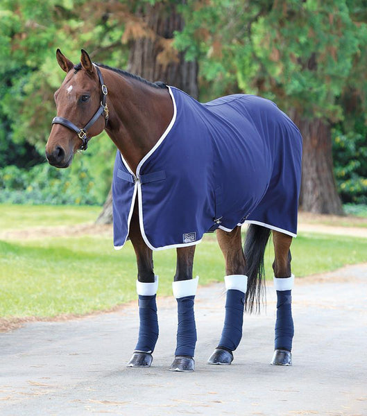 Shires Tempest Premium Stable Sheet Navy and White 98