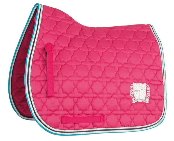 Shires Wessex Embroidered Saddle Cloth Pink 2560