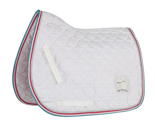 Shires Wessex Embroidered Saddle Cloth White 2560