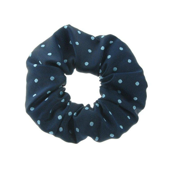 ShowQuest Medium Spot Scrunchie Navy and Pale Blue SHQ0715