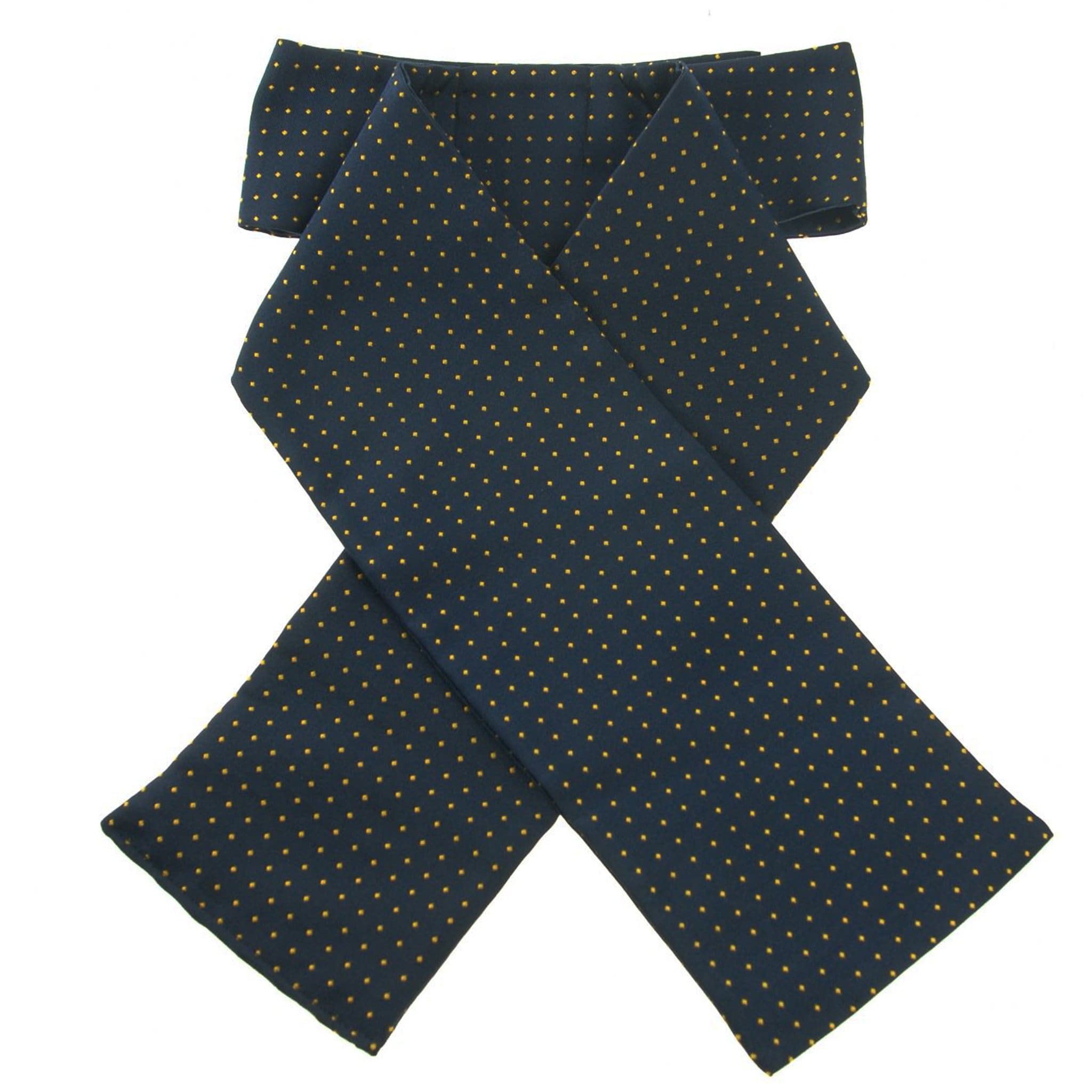 ShowQuest Pin Spot Pre-tied Stock Navy and White 19238