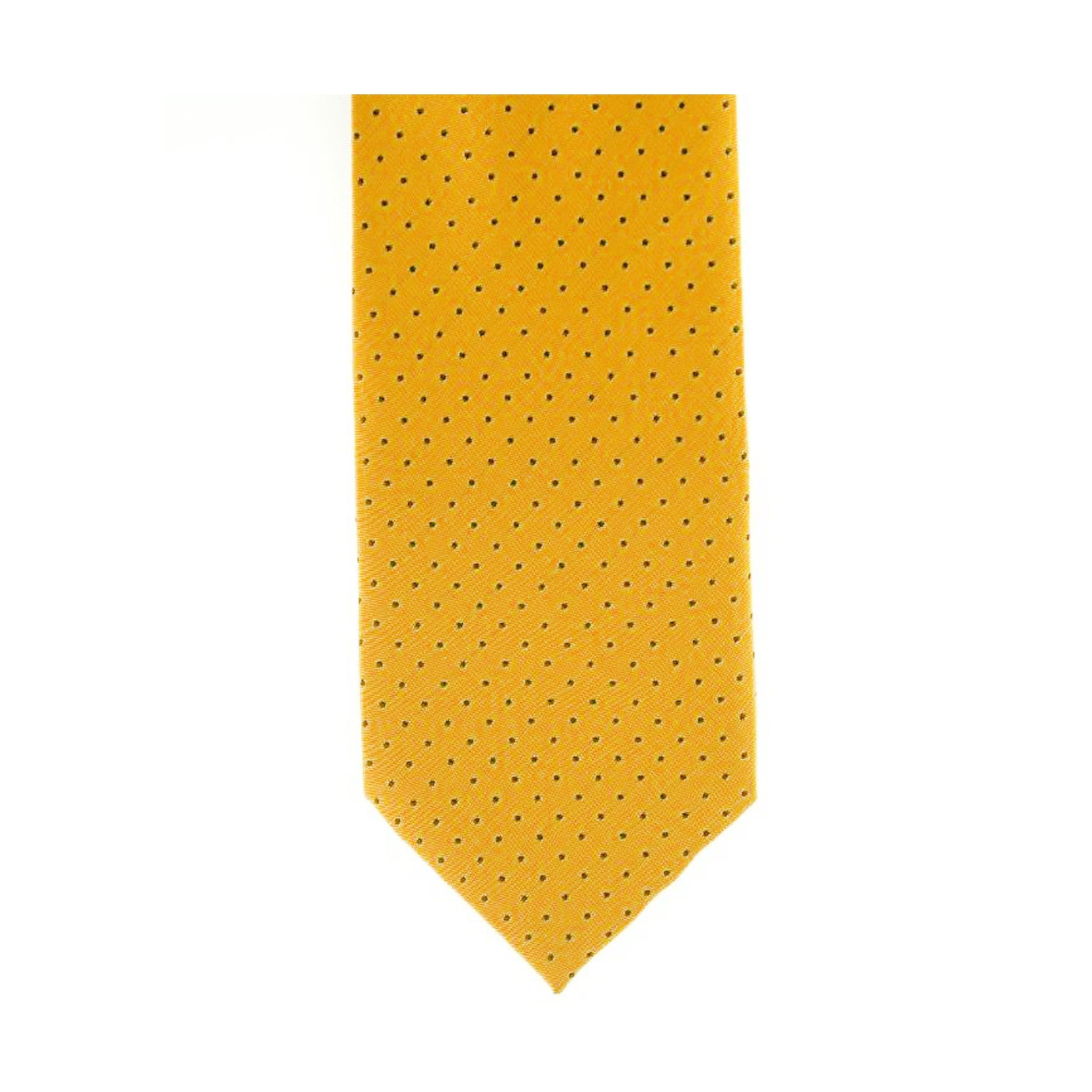 ShowQuest Pin Spot Tie Yellow and Navy Pin Spots 19271