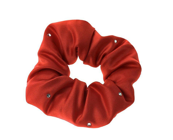 ShowQuest Scrunchie with Crystals Red SHQ0840