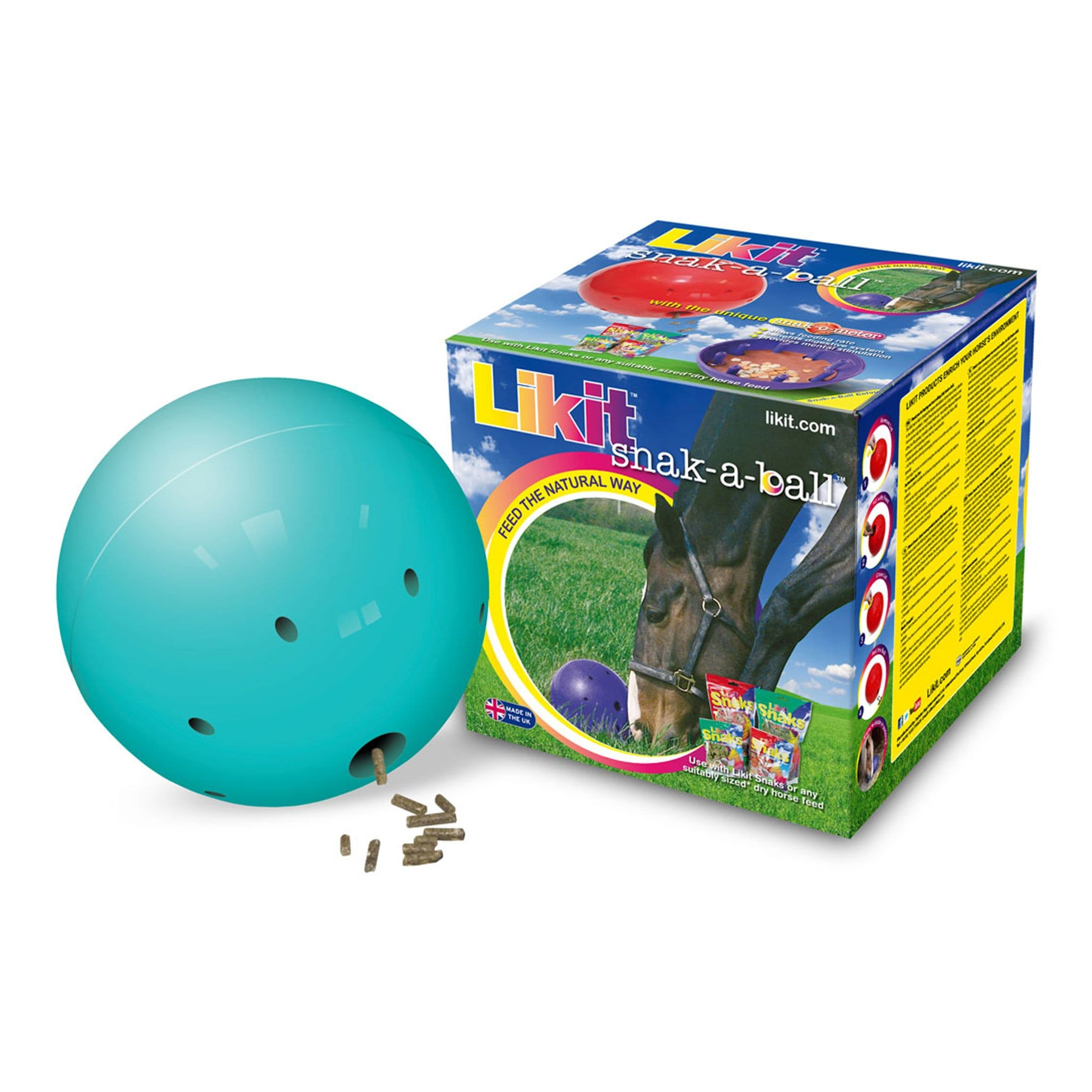 Likit Snak-a-Ball in 13353 Aqua With Box