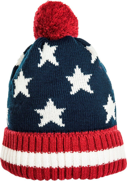 HKM Stars and Stripes Bobble Hat 7585