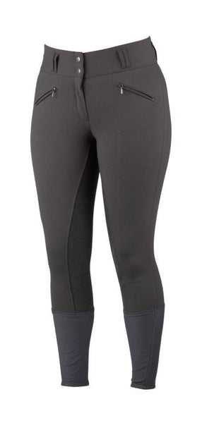 "Dublin Supa Embrace Performance Full Seat Ladies Breeches - 8/26"" / Charcoal 