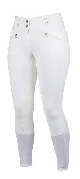 "Dublin Supa Embrace Performance Full Seat Ladies Breeches - 8/26"" / White 