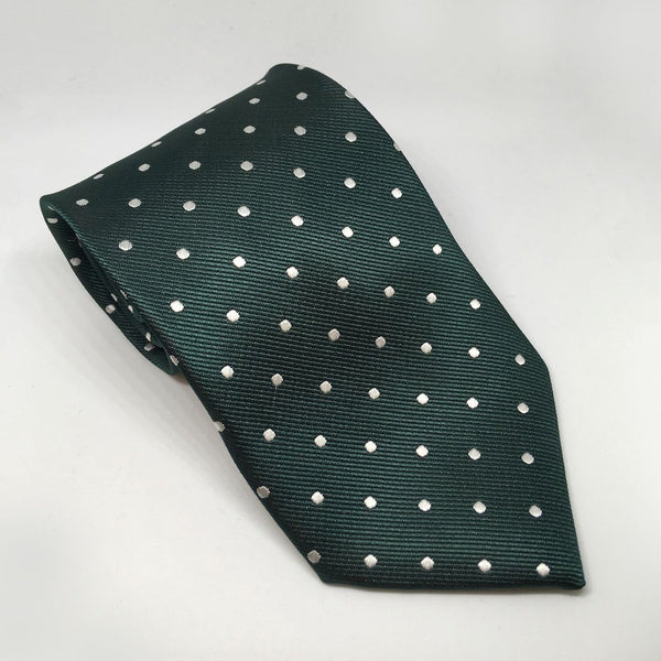 Equetech Polka Dot Show Tie TLS Bottle Green and White