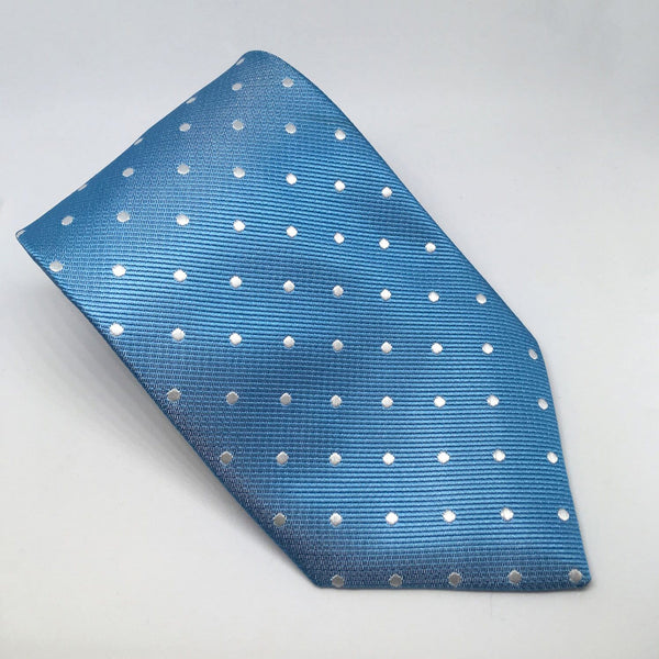 Equetech Polka Dot Show Tie TLS Light Blue and White