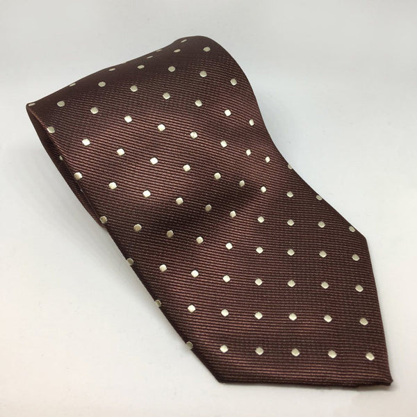 Equetech Polka Dot Show Tie TLS Brown and Cream