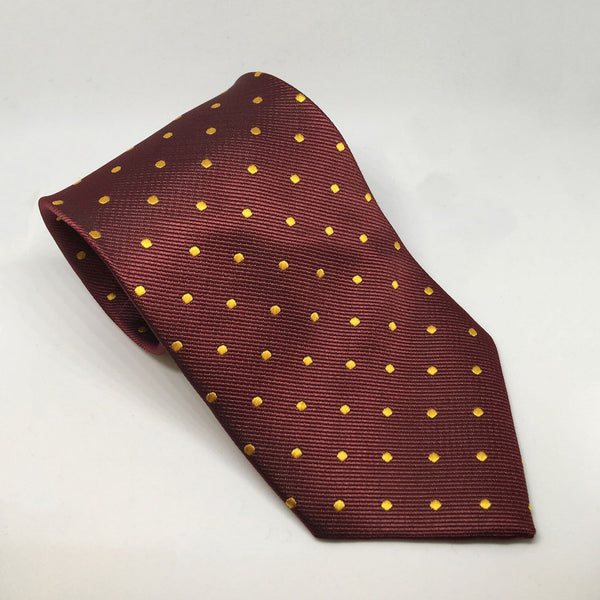 Equetech Polka Dot Show Tie TLS Burgundy and Gold